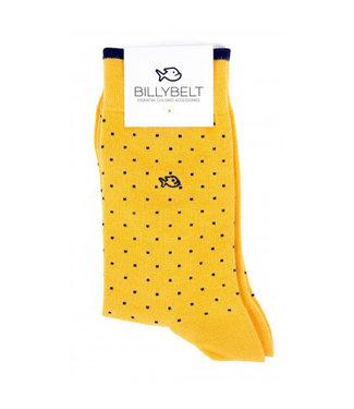 Billybelt Billy Belt Katoenen sokken Yellow Square 41 - 46