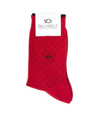 Billybelt Billy Belt Katoenen sokken Red Square 41 - 46