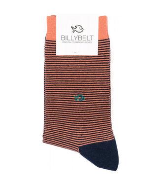 Billybelt Billy Belt Katoenen sokken Coral Stripe 41 - 46