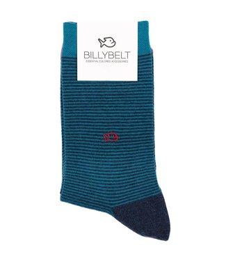 Billybelt Billy Belt Katoenen sokken Blue Stripe 41 - 46