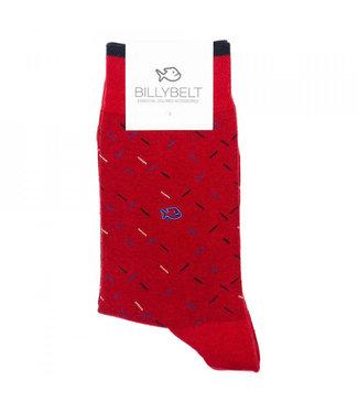 Billybelt Billy Belt Katoenen sokken Spicy Red 41 - 46