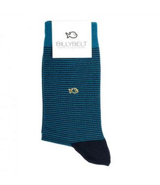 Billybelt Billy Belt Katoenen sokken Navy Stripped 41 - 46