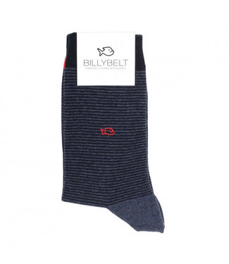 Billybelt Billy Belt Katoenen sokken Night Blue Stripped 41 - 46