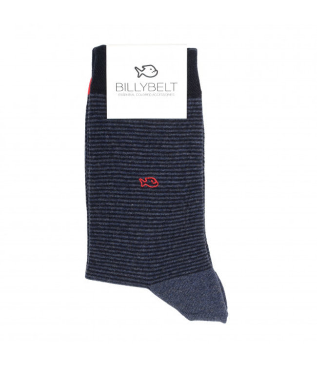 Billybelt Billy Belt Katoenen sokken Night Blue Stripped 41 - 46