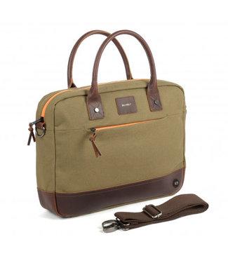 Billybelt Laptop Bag Khaki and Orange