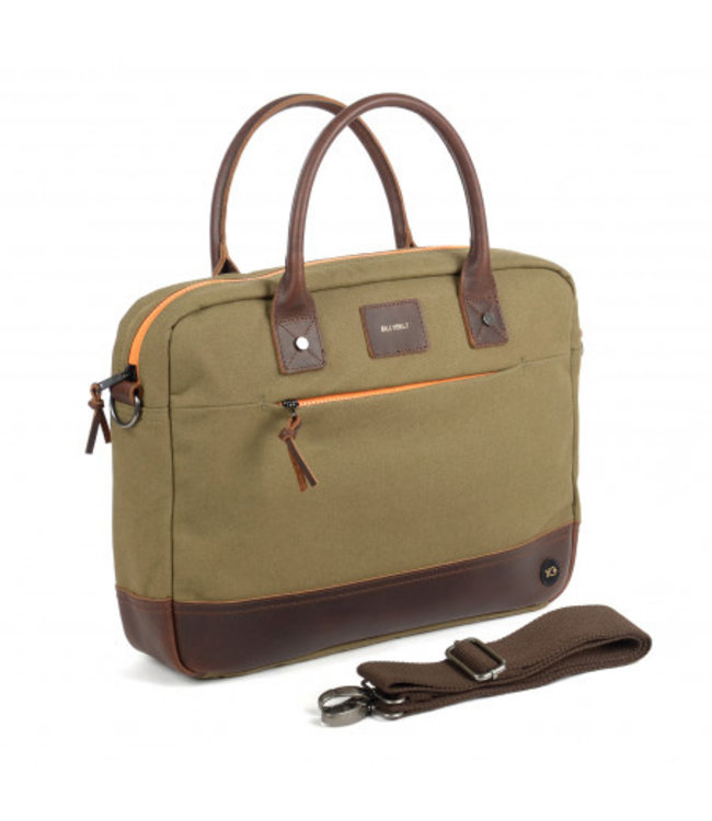 Billybelt Laptop Bag Khaki and Orange