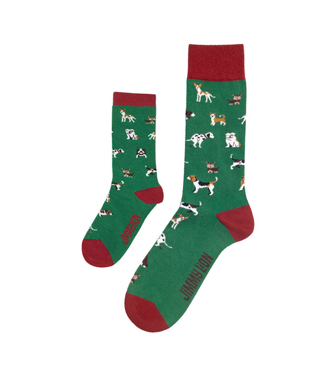Eenmannenkado Zo Vader Zo Zoon/Dochter sokken Dogs