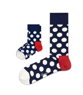 Eenmannenkado Zo Vader Zo Zoon/Dochter sokken Big Dots Blue