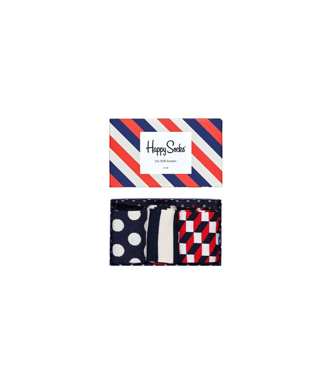 Happy Socks Happy Socks Classic Stripe Giftbox - 41-46