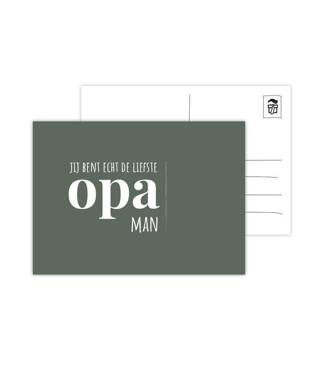 Eenmannenkado Je bent echt de liefste Opa Man ansichtkaart