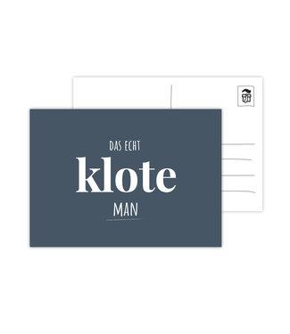 Eenmannenkado Das Echt Klote Man ansichtkaart