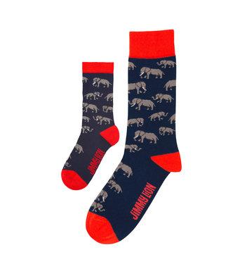 Eenmannenkado Zo Vader Zo Zoon/Dochter sokken Olifant