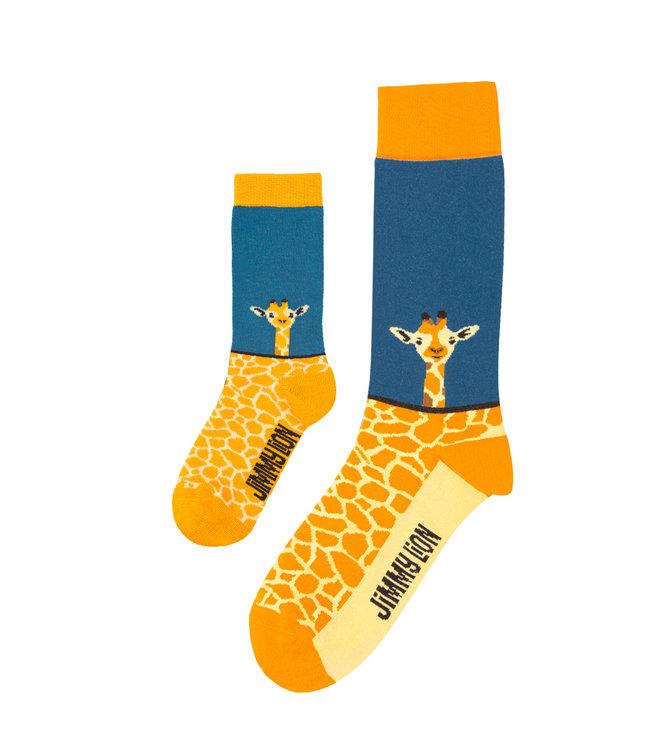 Eenmannenkado Zo Vader Zo Zoon/Dochter sokken Giraf