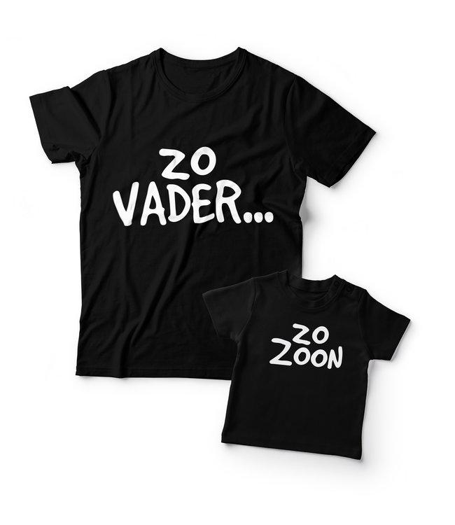 Eenmannenkado Matching shirts Vader & Zoon | Zo Vader Zo Zoon