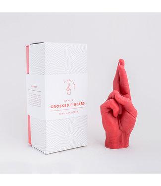 CandleHand CandleHand Kaars - Crossed Fingers - rood