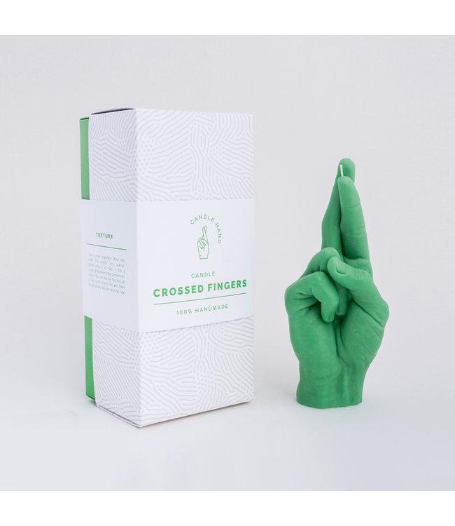 CandleHand CandleHand Kaars - Crossed Fingers - groen