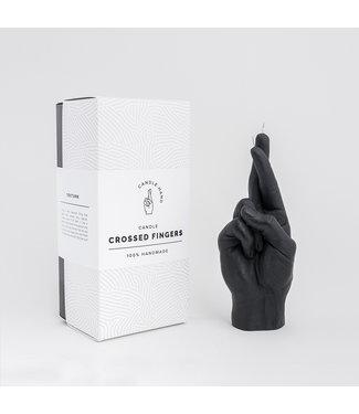 CandleHand CandleHand Kaars - Crossed Fingers - zwart