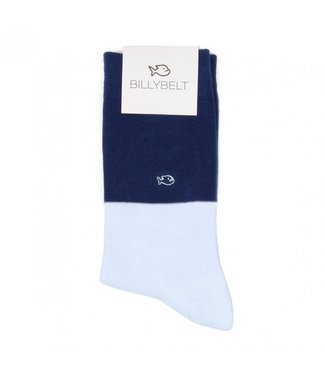 Billybelt Billy Belt Katoenen sokken bi-color Navy blue / Sky blue 41 - 46