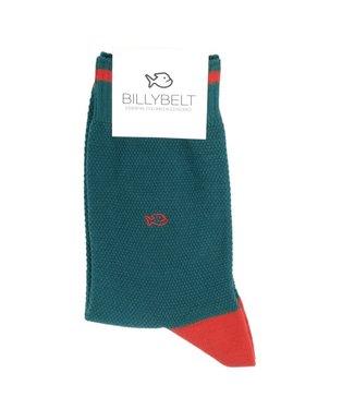 Billybelt Billy Belt Katoenen sokken Pique gebreid Blue & Red 41 - 46