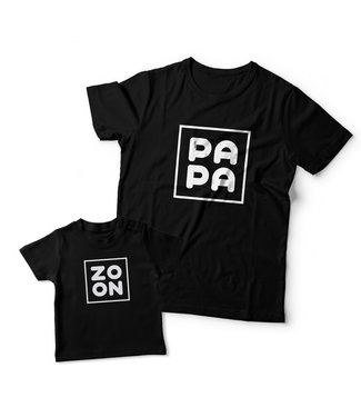 Eenmannenkado Matching shirts Vader & Zoon | Zoon & Papa