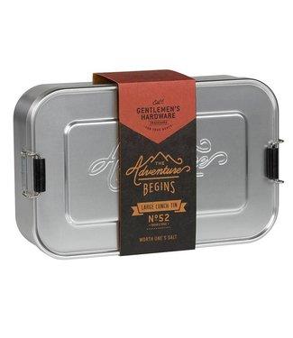 Gentlemen's Hardware Alluminium Lunch box silver large