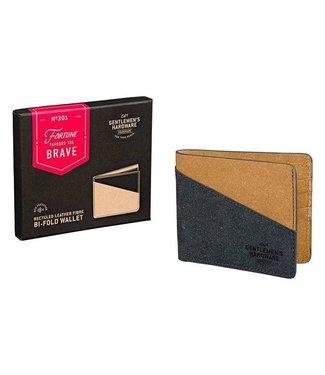 Gentlemen's Hardware Bi-Fold Wallet Recycled Leather Black & Tan