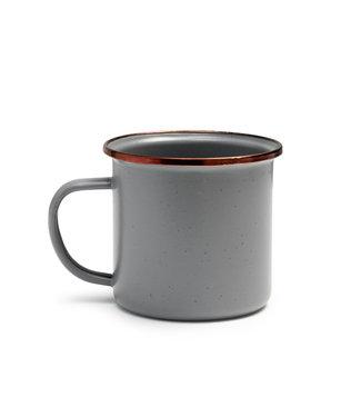 Barebones Enamel Cup/Beker - Stone grey - Set van 2