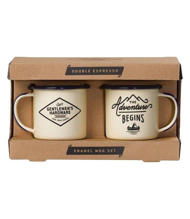 Gentlemen's Hardware Enamel Espresso Set | 2 stuks