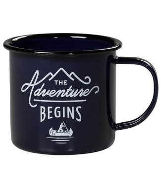 Gentlemen's Hardware Enamel Mug - 'The Adventure Begins'