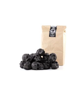 Skulls Skulls houtskool Briketten giftbag (Doodskop briketten 15 stuks)