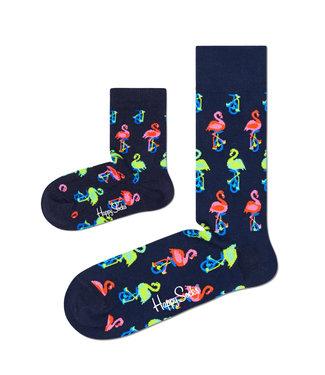 Eenmannenkado Zo Vader Zo Zoon/Dochter sokken Flamingo's