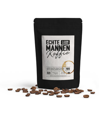 Eenmannenkado Echte F*CKING sterke mannen koffie - 250 gr