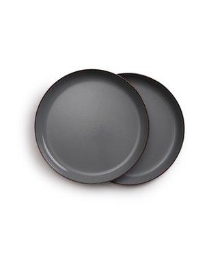 Barebones Enamel ontbijtbord - Stone Grey - Set van 2