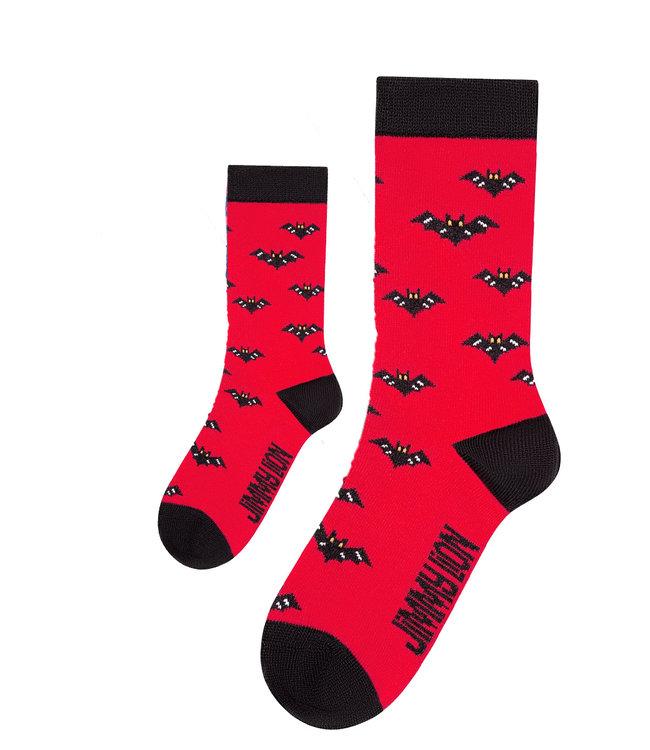 Eenmannenkado Zo Vader Zo Zoon/Dochter sokken Bats/Vleermuis