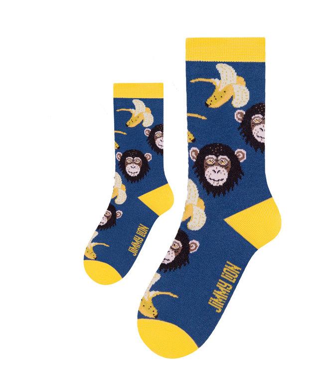 Eenmannenkado Zo Vader Zo Zoon/Dochter sokken Monkeys & Bananas