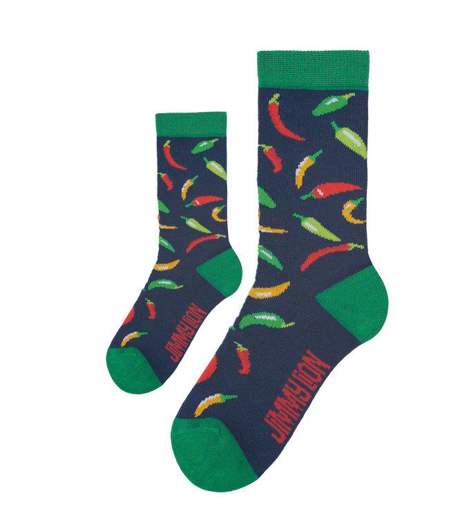 Eenmannenkado Zo Vader Zo Zoon/Dochter sokken Chillies