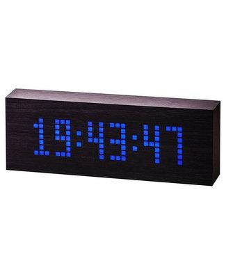 Gingko Message Click Clock hout - zwart