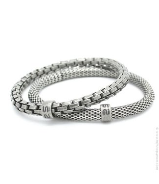 MR SILIS Snake Silver armband