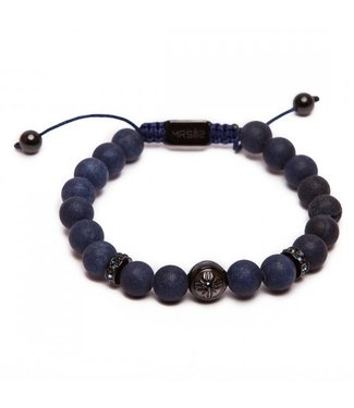MR SILIS Stone Blue Matte armband