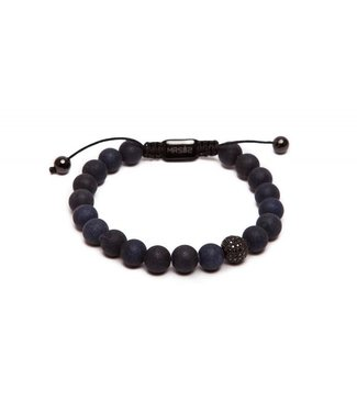 MR SILIS Stone Black Matte armband