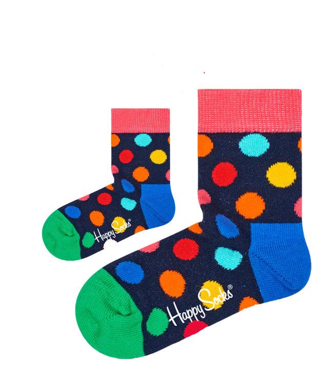 Eenmannenkado Zo Vader Zo Zoon/Dochter sokken Big Dots Color