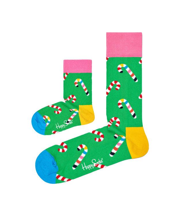 Eenmannenkado Zo Vader Zo Zoon/Dochter sokken Kerst Candy Cane