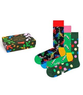 Eenmannenkado 3-pack Happy Holidays sokken cadeauset