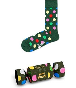 Eenmannenkado 1-pack Happy Holidays sokken in cadeauverpakking