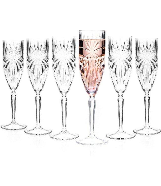 RCR Cristalleria Italiana Oasis Champagneglas 6 stuks