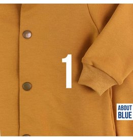 About Blue Fabrics French Terry uni 1 Golden Spice