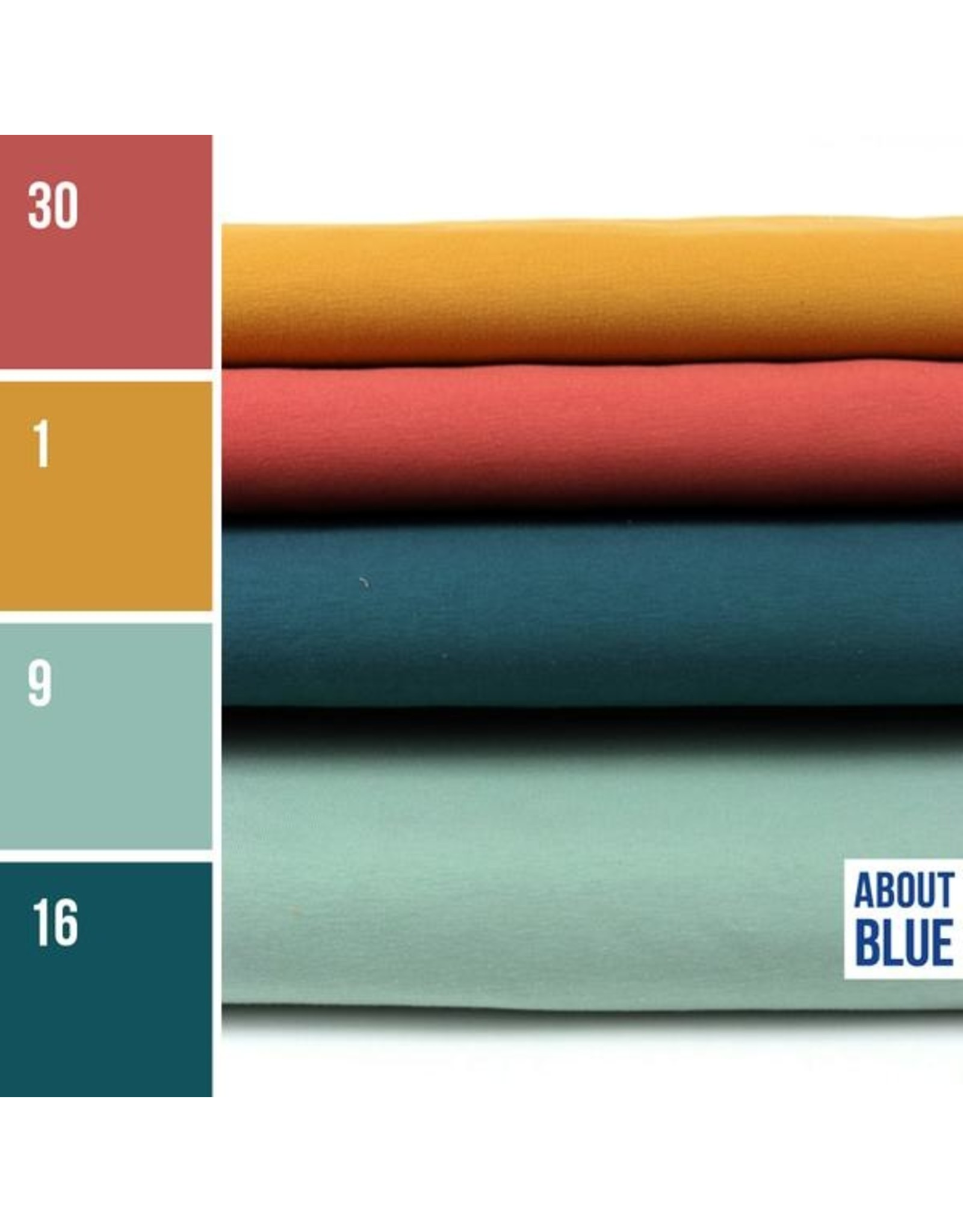 About Blue Fabrics French Terry Uni 30 Canyon Rose