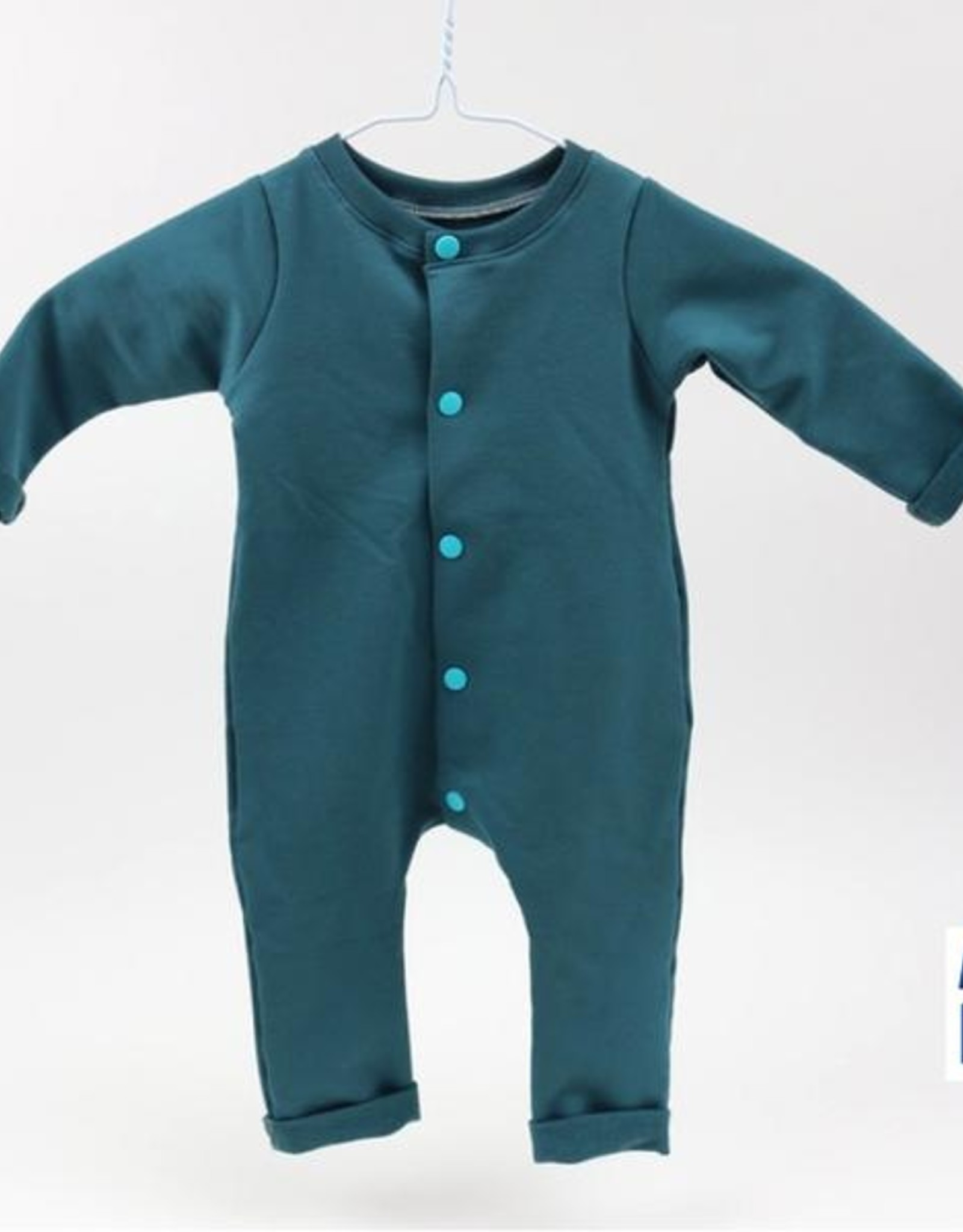 About Blue Fabrics French Terry Uni 16 Blue Wing Teal