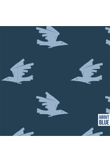 About Blue Fabrics French Terry - Birds are comming