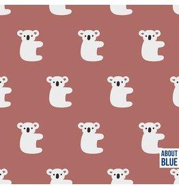 About Blue Fabrics French terry - Hello Koala COUPON 90 cm
